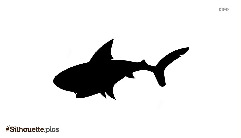 Cartoon Shark Silhouette Art