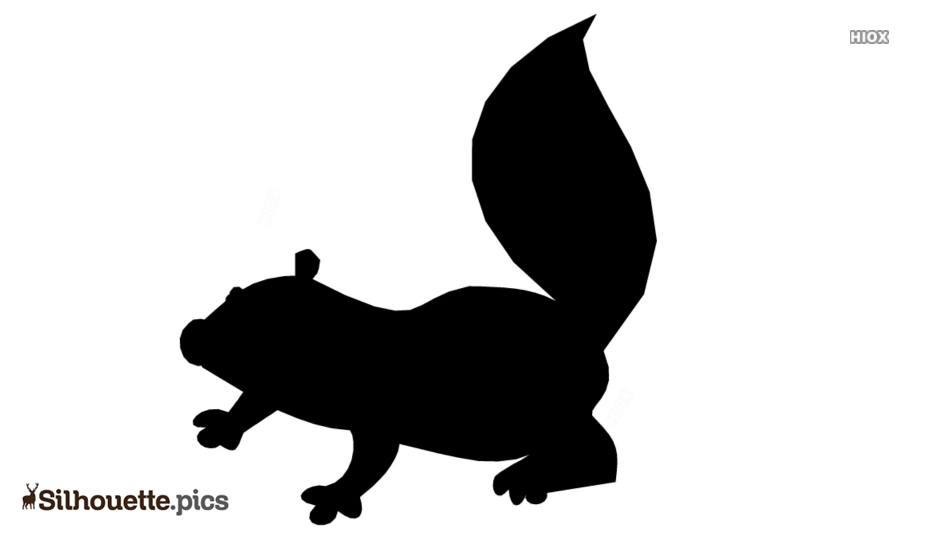 Cartoon Skunk Silhouette Image And Vector