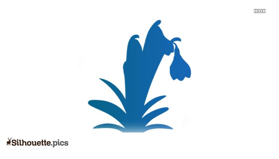 Cartoon Snowdrop Flower Silhouette