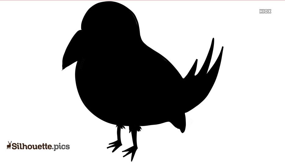 Cartoon Songbird Silhouette