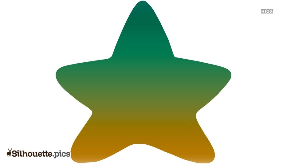 Cartoon Starfish Silhouette