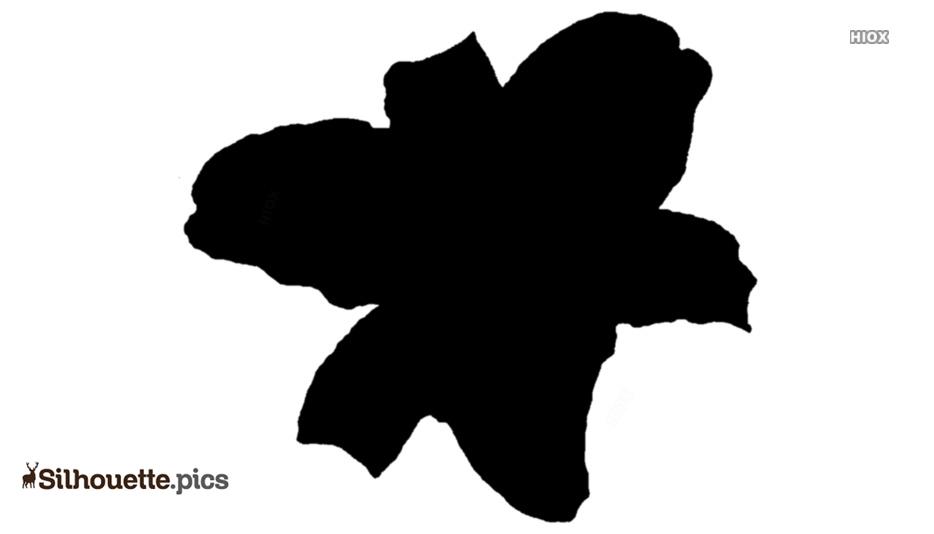 Cartoon Stargazer Lily Flower Silhouette