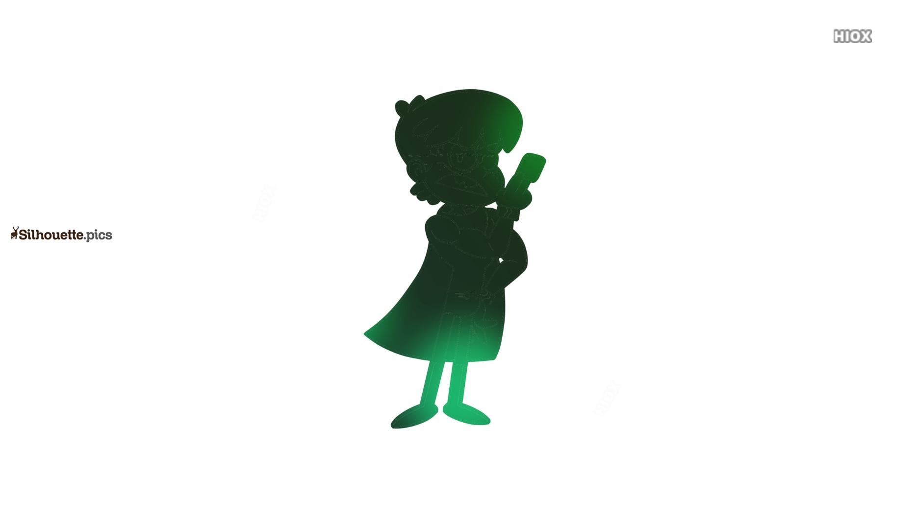 Cartoon Superhero Boy Silhouette