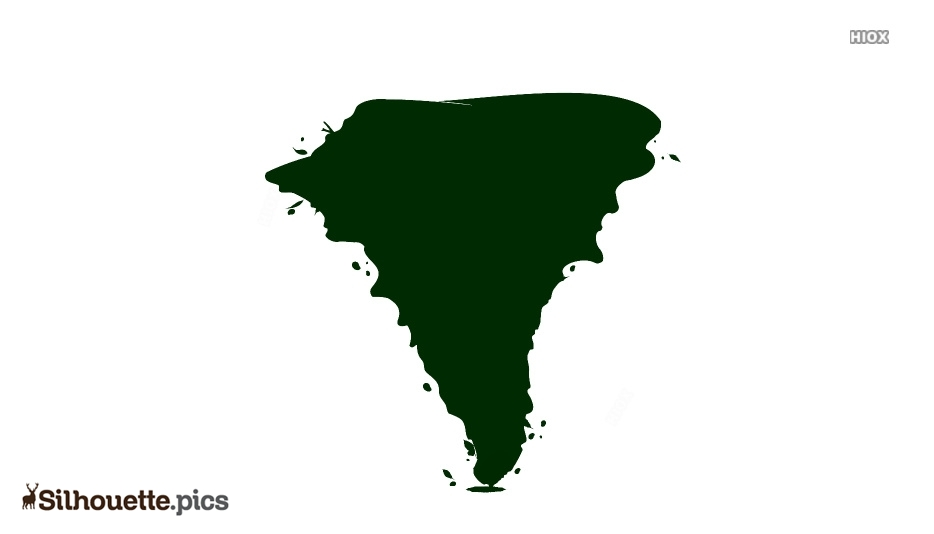 Cartoon Tornado Silhouette Image