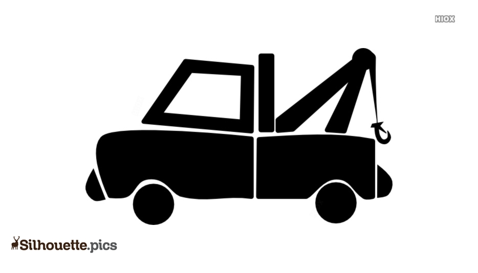Cartoon Tow Truck Silhouette Clipart