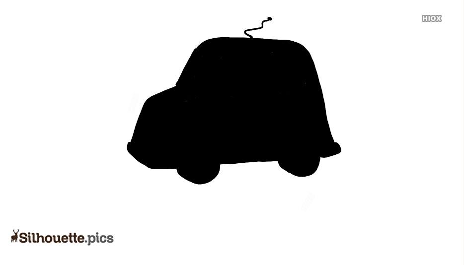 Cartoon Toy Car Silhouette Clip Art
