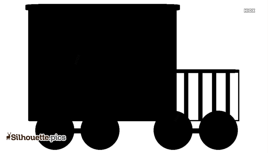 Cartoon Train Compartment Silhouette