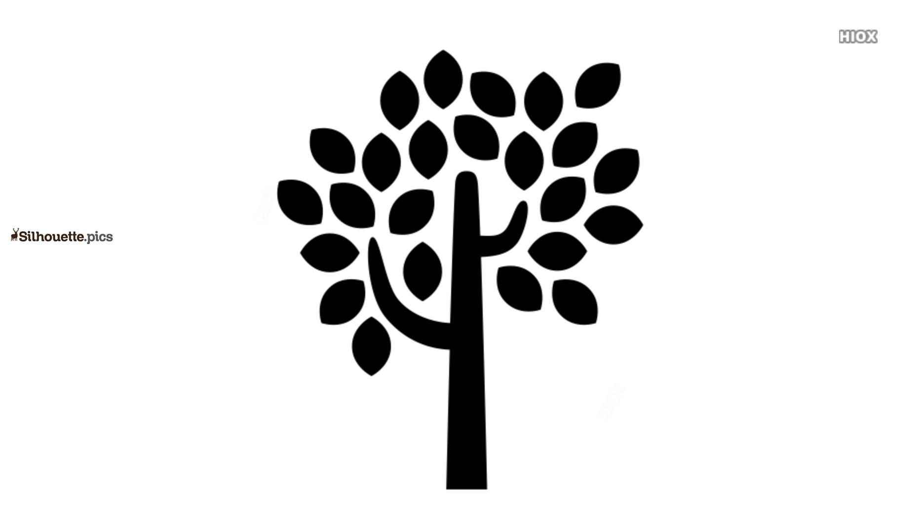 Cartoon Tree Art Silhouette