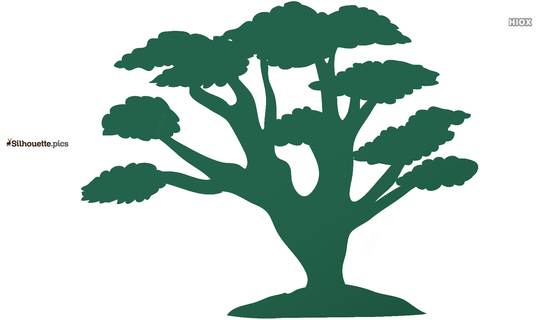 Cartoon Tree Clipart Silhouette