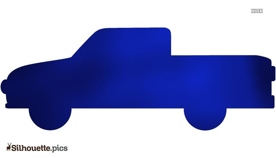 Cartoon Truck Drawings Silhouette Illustration