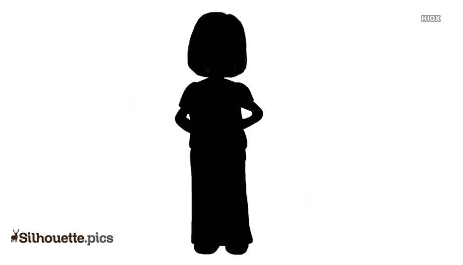 Cartoon Woman Vector Silhouette Images, Pictures