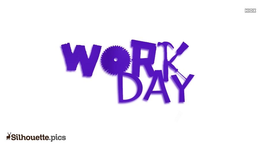 Cartoon Work Day Clipart Silhouette