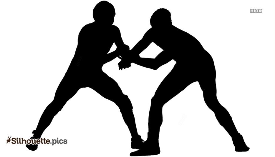 Cartoon Wrestlers Silhouette