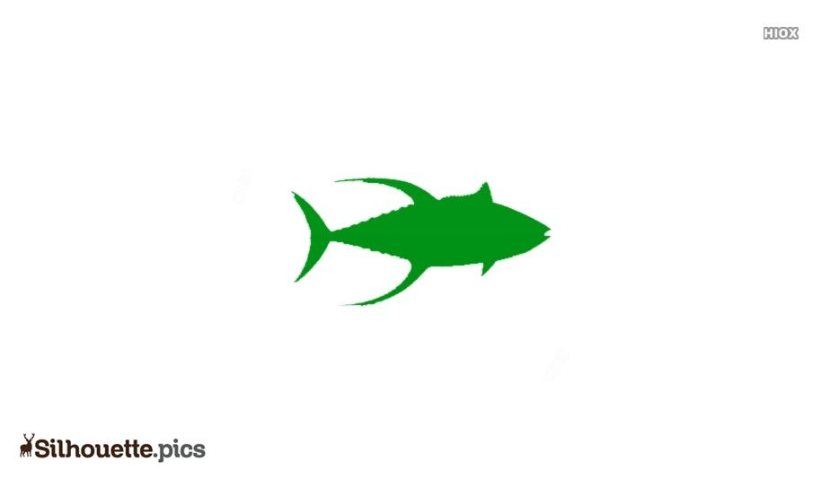 Cartoon Yellowfin Tuna Silhouette