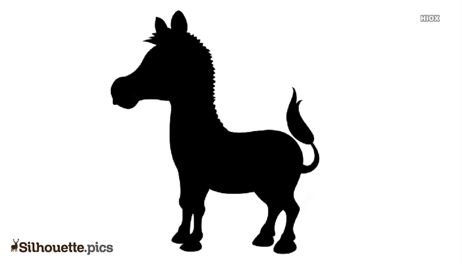 Cartoon Zebra Symbol Silhouette