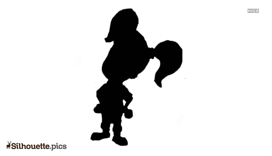 Character Cindy Silhouette Vector And Graphics