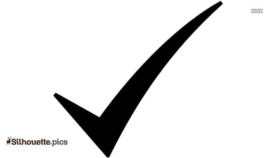 Check Mark Symbol Silhouette Icon