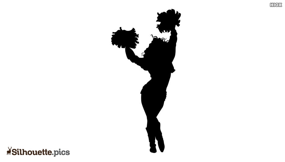 Cheerleading Stunt Silhouette
