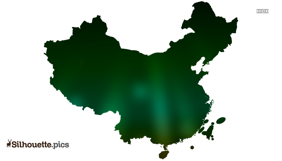 China Blank Map Silhouette