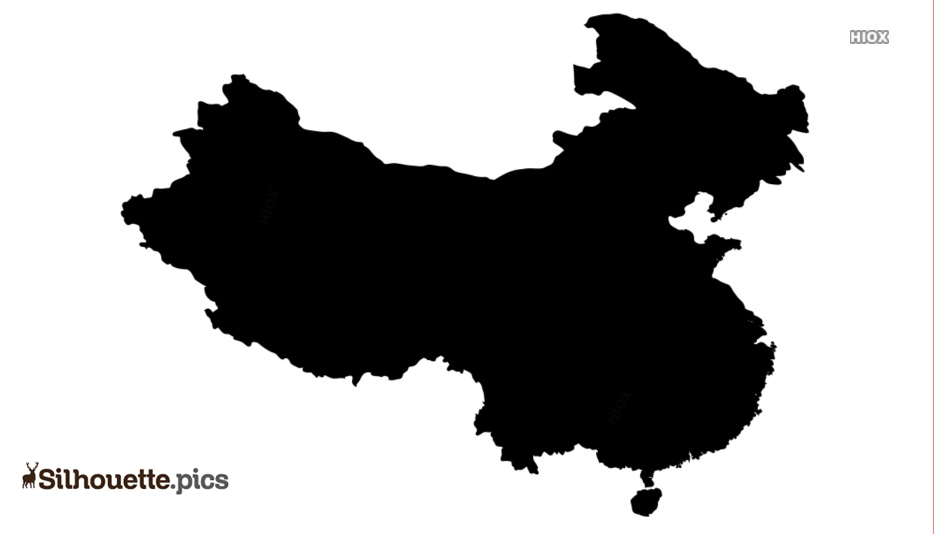 China Map Silhouette Image