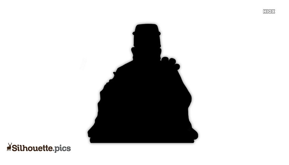 Chinese God Silhouette