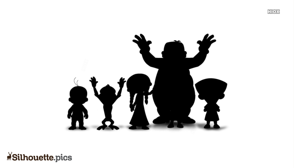 Chota Bheem Character Silhouette Vector And Graphics