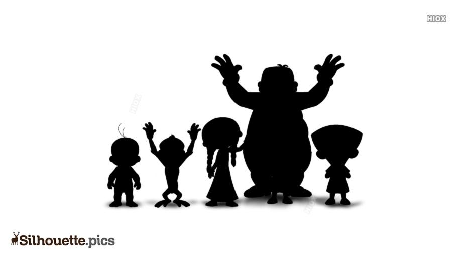 Chotta Bheem Cartoon Characters Silhouette
