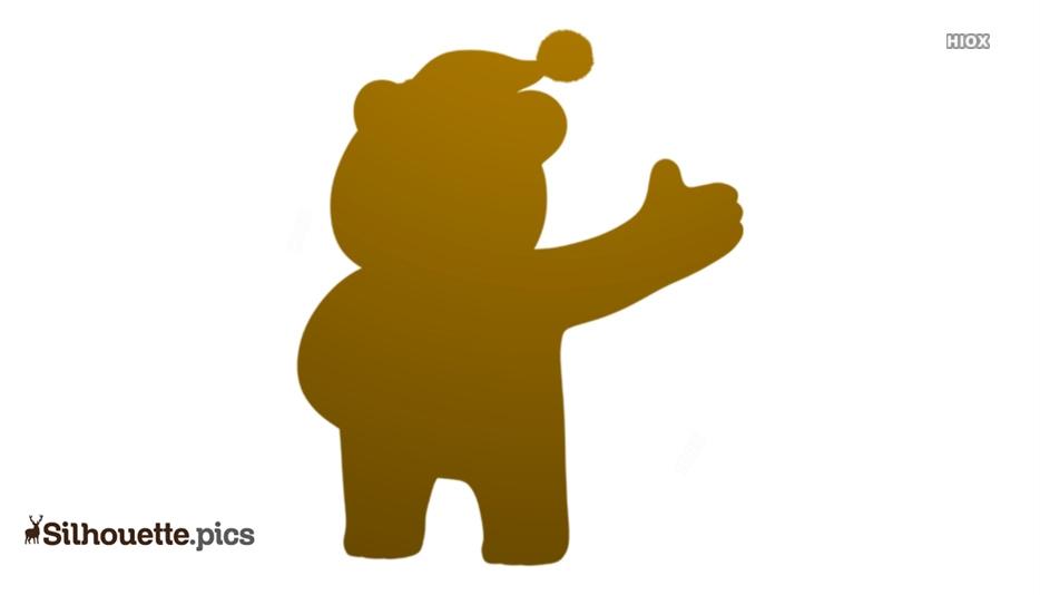 Christmas Bear Silhouette