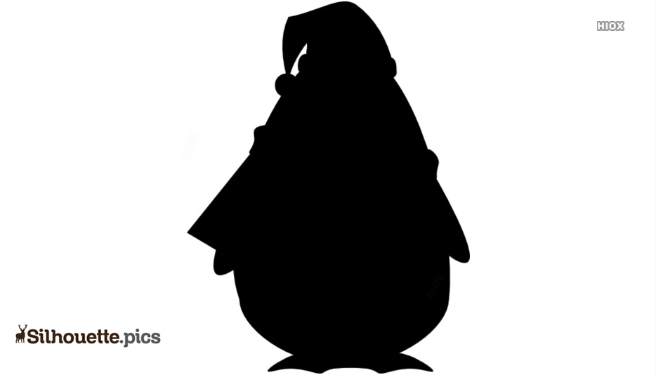 Christmas Penguin Illustration Silhouette