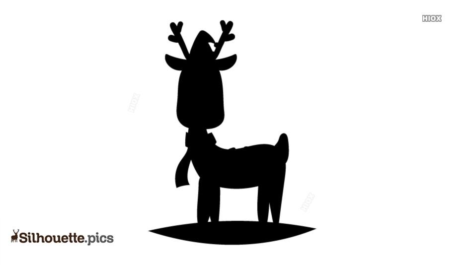 Christmas Reindeer Cartoon Silhouette