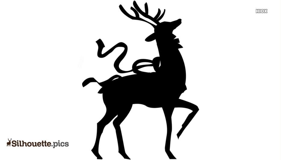 Christmas Reindeer Silhouette Images