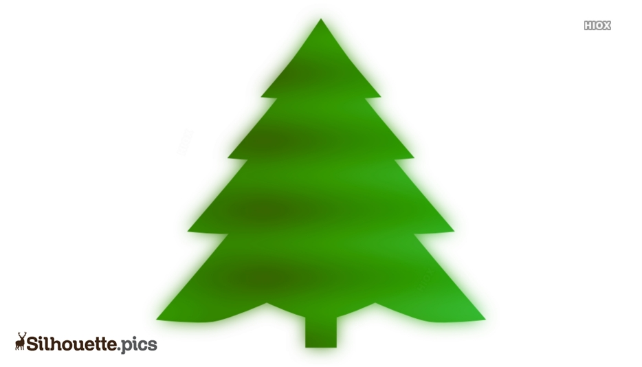 Christmas Tree Silhouette Illustration Vector Drawing