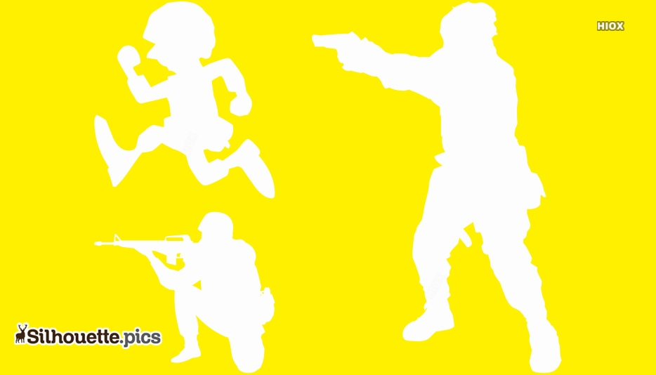 Combat Fighting Silhouette Drawing