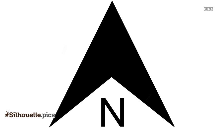 Compass North Silhouette Clip Art