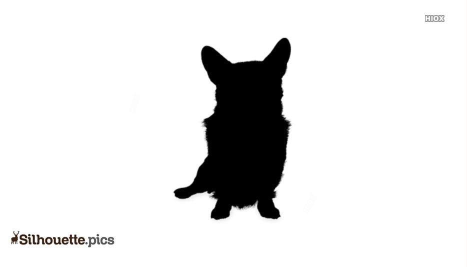 Corgi Dog Sitting Silhouette