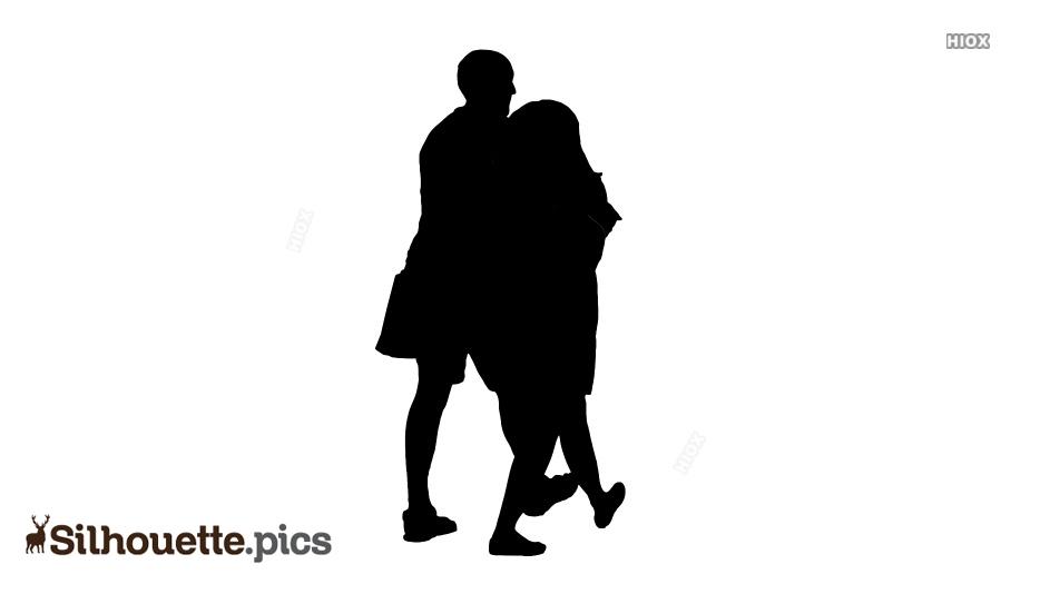 Couple Walking Silhouette