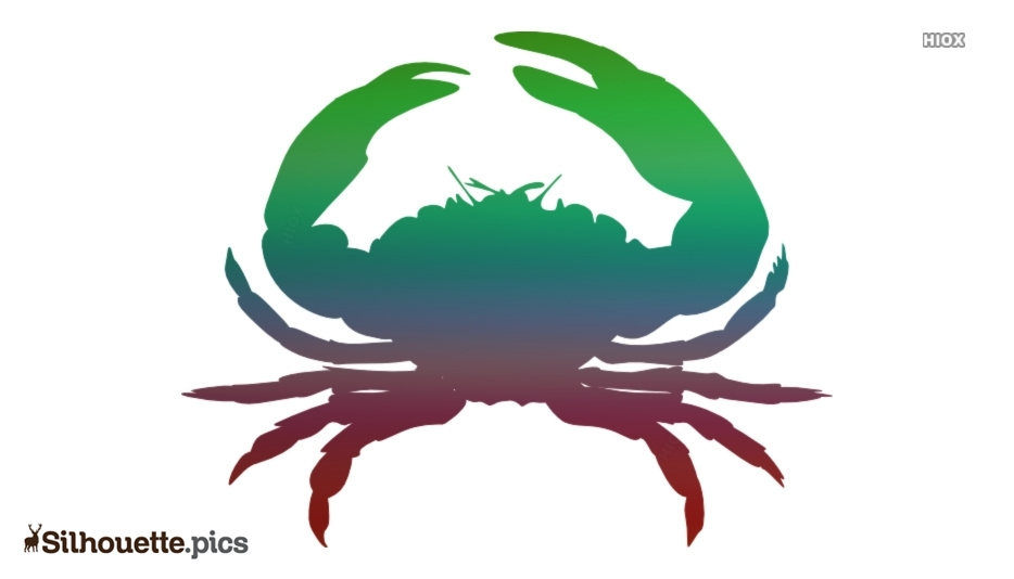 Crab Silhouette Art, Sea Creature Clipart Icon