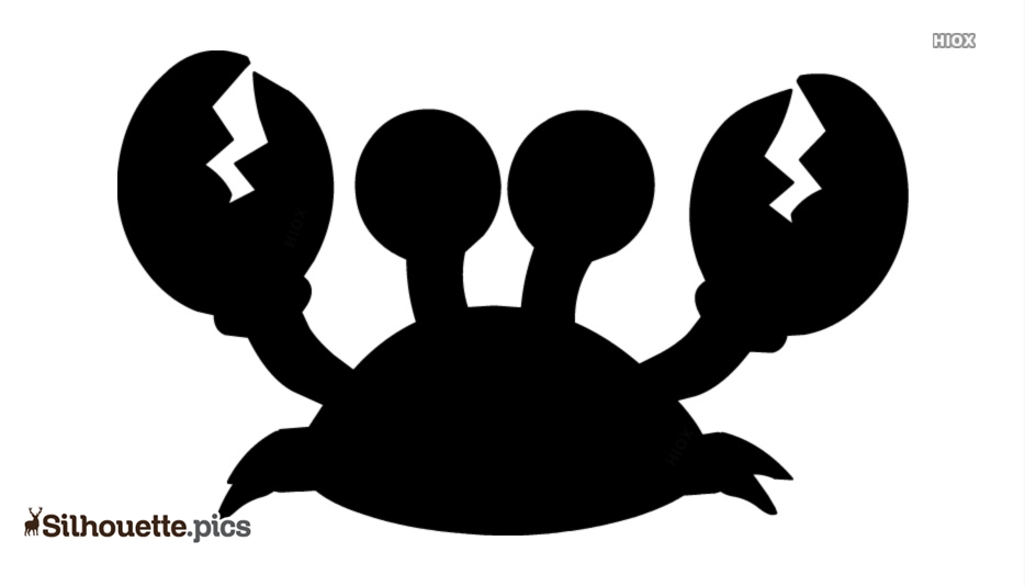 Crab Silhouette Black And White