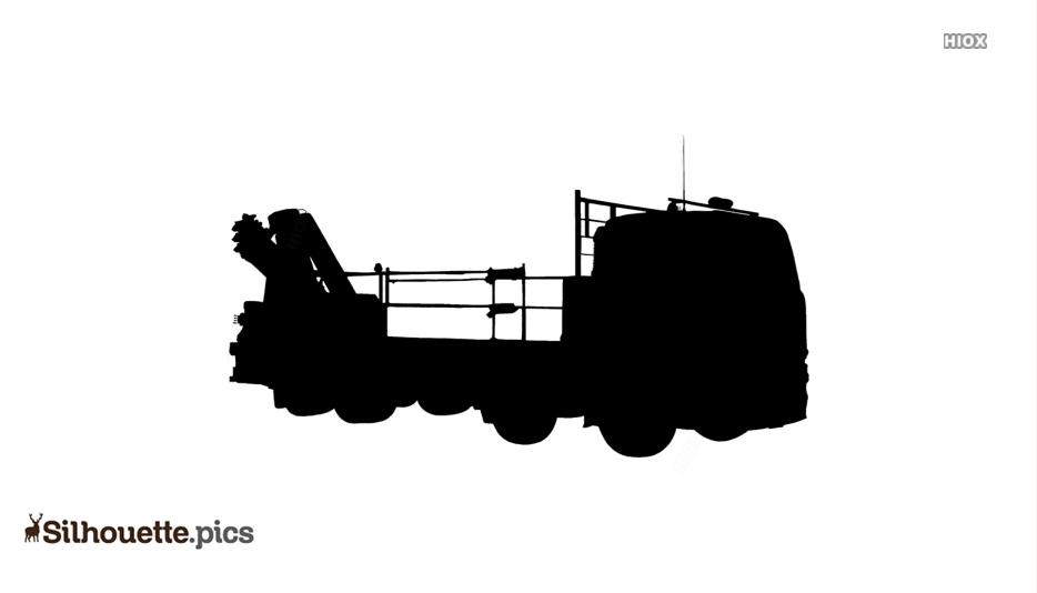 Crane Truck Silhouette Clip Art