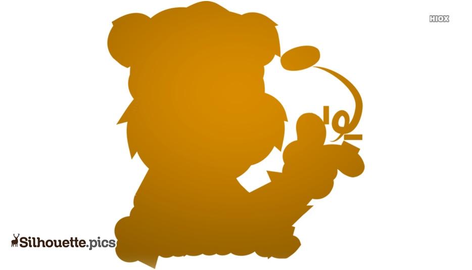 Crazy Bear Cartoon Silhouette Picture