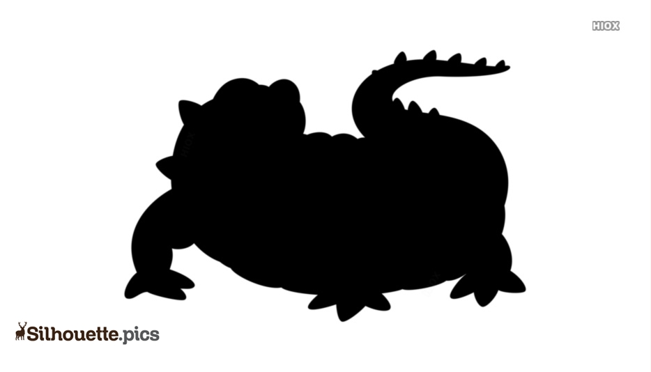 Crocodile Cartoon Silhouette Image