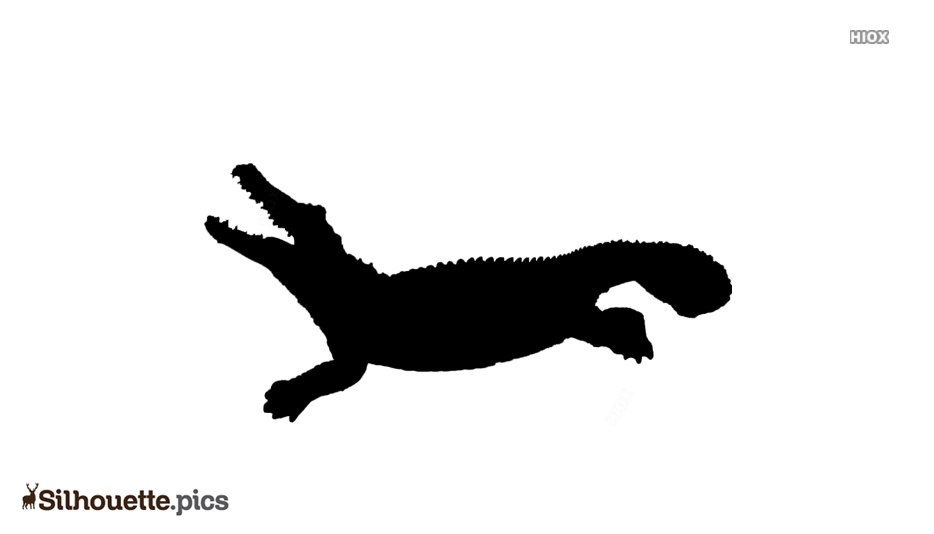 Crocodile Gator Alligator Silhouette