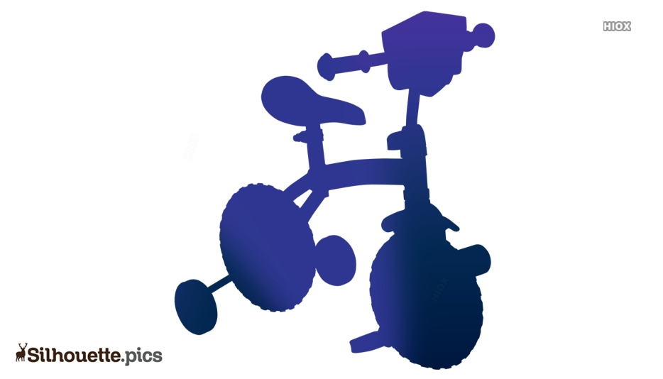 Cute Bicycle Silhouette Illustration