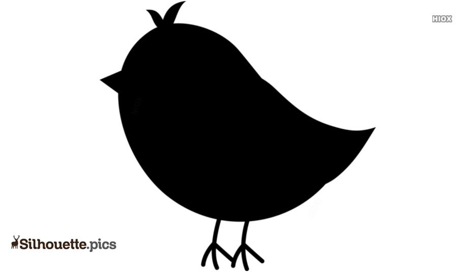 Cute Bird Silhouette Vector Art