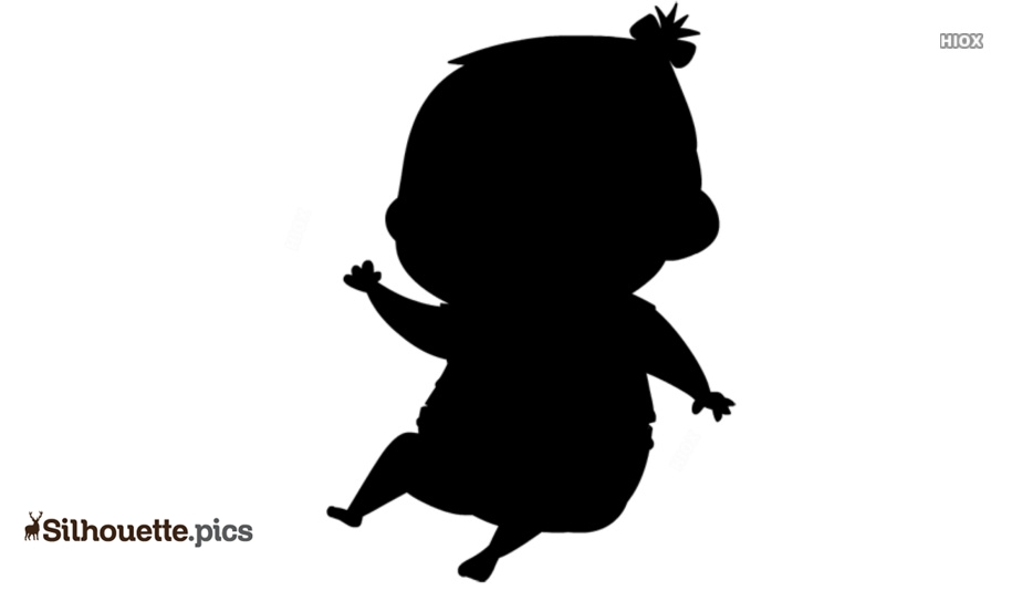 Cute Cartoon Baby Silhouette Images