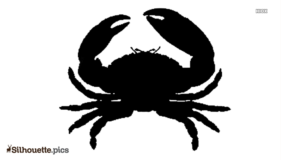 Cute Cartoon Crab Silhouette Illustration