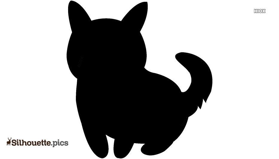 Cute Cartoon Dog Silhouette Vector And Graphics