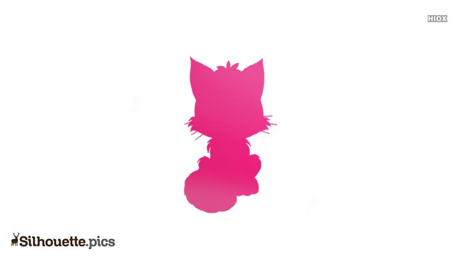 Cute Cat Cartoon Silhouette