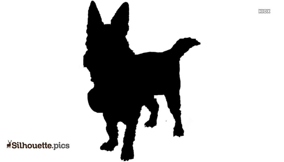 Cute Dog Silhouette, Vector Art