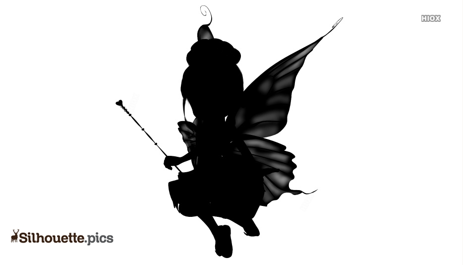 Cute Fairy Sitting Drawings Silhouette Clipart